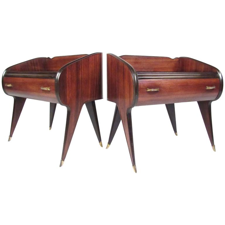 Pair of Elegant Italian Modern Nightstands
