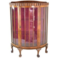 20th Century French Art Deco Circular Display Cabinet or Vitrine, 1930's