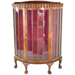 20t Century French Art Deco Circular Display Cabinet or Vitrine, 1930's