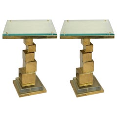 Pair of Cube Tables by Glustin Creation