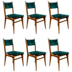 Set of Six Vintage Italian Chairs
