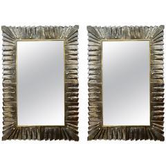 Decorative Pair of Murano Glass Mirrors