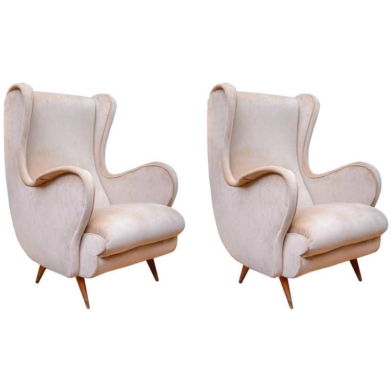 Pair of Vintage Armchairs For Sale