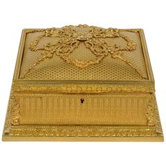 Exceptional Gilded Bronze Box