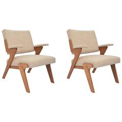 Jose Zanine Caldas Pair of Armchairs