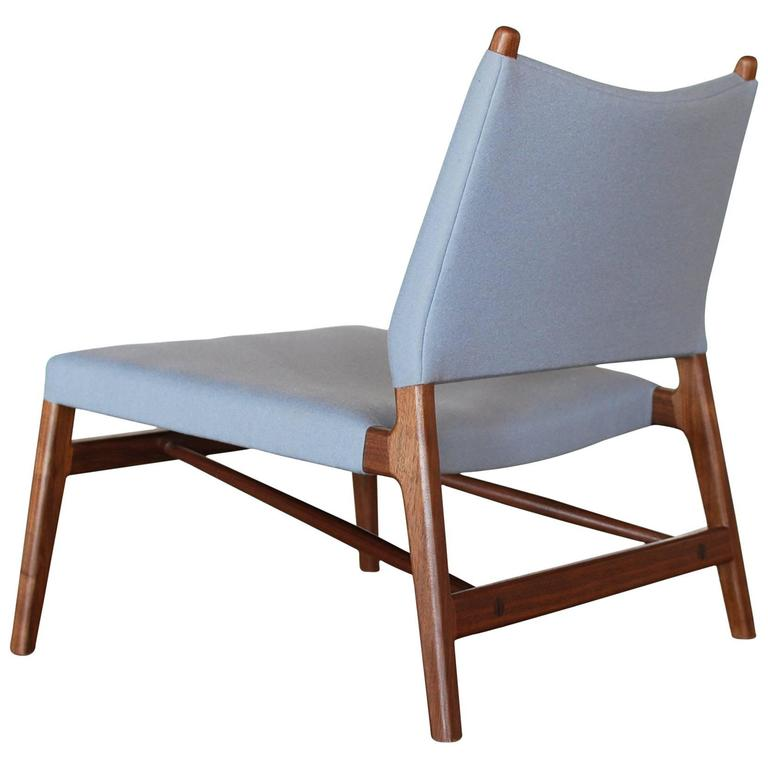 C05 Lounge Chair by Jason Lewis, Solid Walnut with Wool Upholstery 1