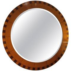 Circular Parquetry Mirror