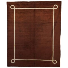 Mid-Century Modern French Wool Rug in the Style of Andre Arbus, 1940's