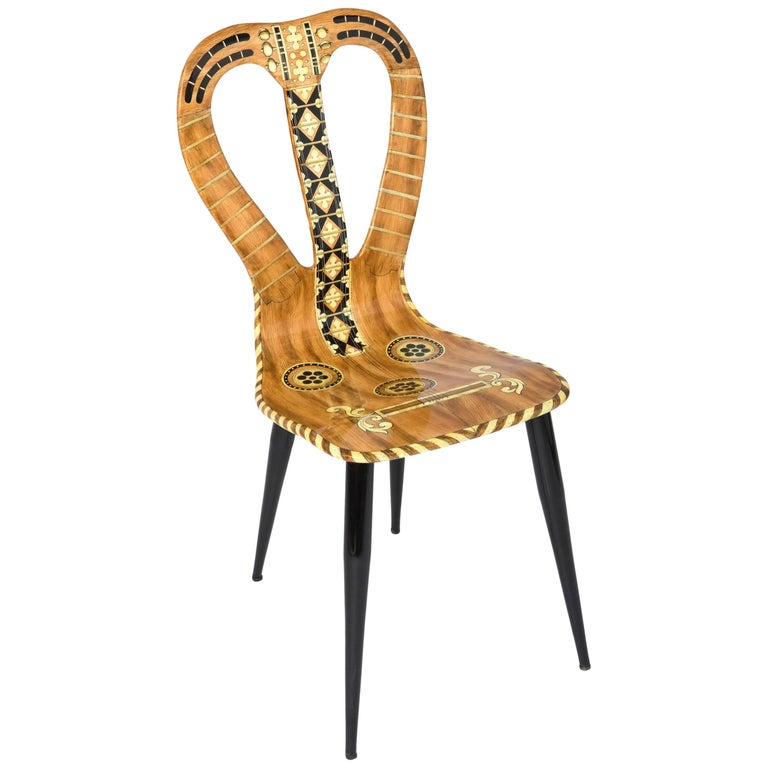 """Atelier Fornasetti chair """"Musicale"""", Italy 1989"""