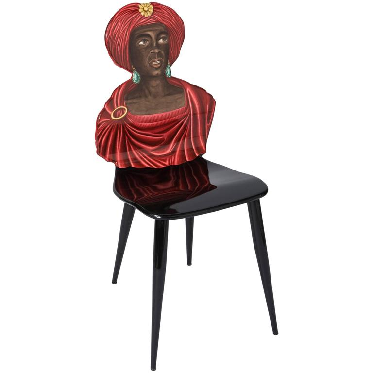 "Atelier Fornasetti ""Moro"" chair, Italy 1989"