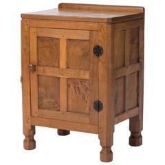 Robert Mouseman Thompson oak bedside cabinet, England circa 1930