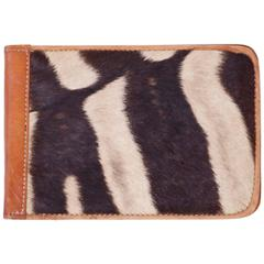 British Colonial Style Zebra Hide Note Pad Cover