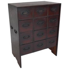 19th Century Petite Japanese Chest with Drawers