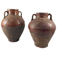Pair of 19th Century Terracotta Urns, Egypt