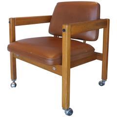 1960s Brazilian Teak Wood Armchair by Sergio Rodigues