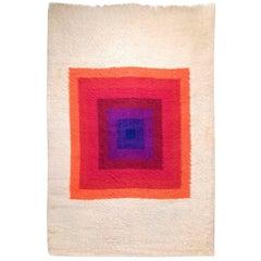1970's Op Art Verner Panton Mira-Romantica Wool Rug