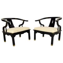Pair of Modern Lacquered Armchairs