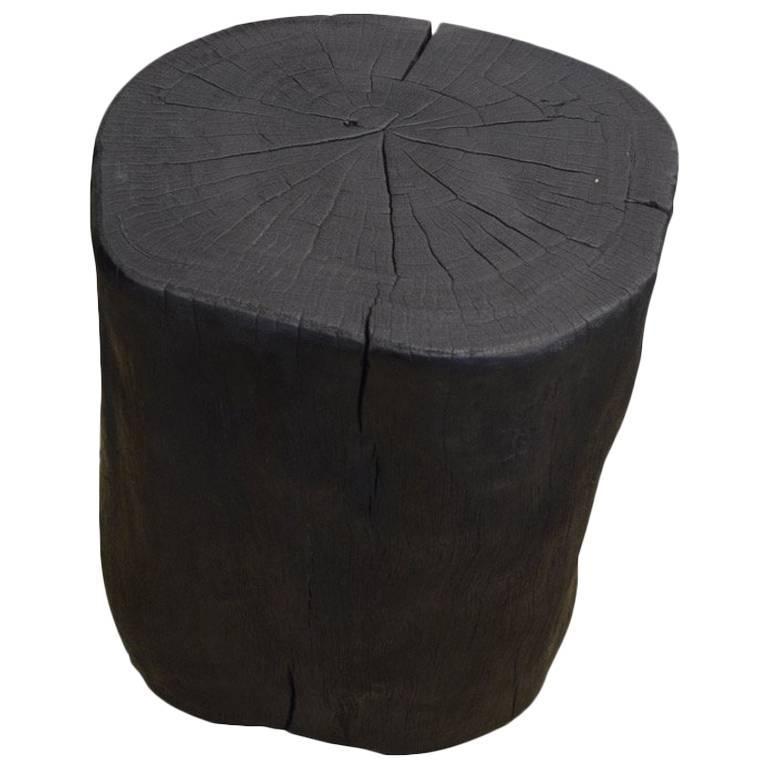 Andrianna Shamaris Triple Burnt Lychee Wood Side Table or Stool