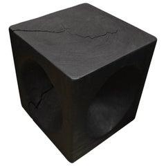 Andrianna Shamaris Triple Burnt Suar Wood Side Table