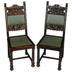 Pair of Neo-Renaissance Chairs, circa 1870-1880