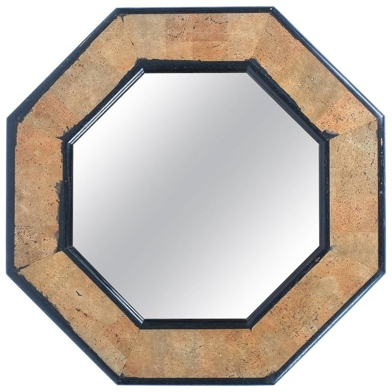 Cork and Wood Mirror by Peter Maly, circa 1970