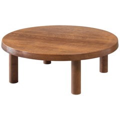 Pierre Chapo Low Model T02 Oak Coffee Table, France, 1960s
