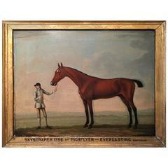 """18th Century Equestrian Portrait, """"Skyscraper"""" by Francis Sartorius"""