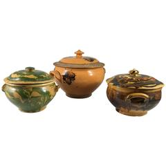 Collection of Three French Provincial Jaspe Tureens, 19th Century