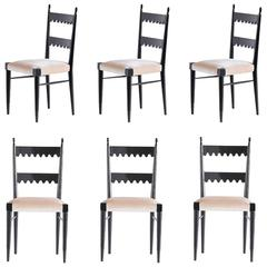 Set of Six Pier Luigi Colli Dining Chairs