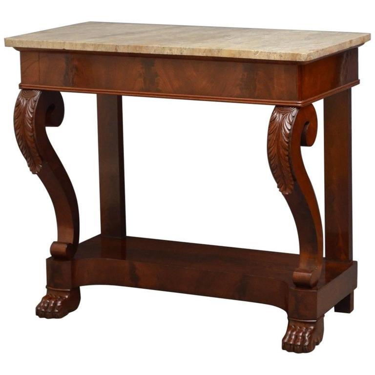Continental Mahogany Console Table Hall Table