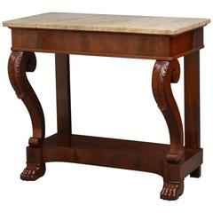 Continental Mahogany Console Table Hall Table
