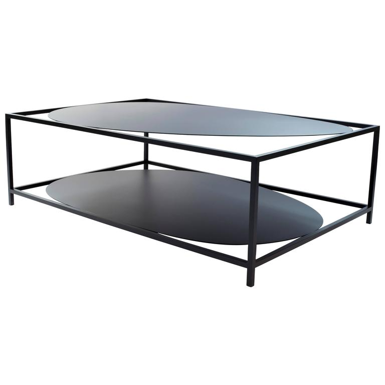 Contemporary black Ahn Organic Modern Steel Coffee Table by Felicia Ferrone