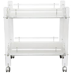 Two-Tier Lucite Bar Cart