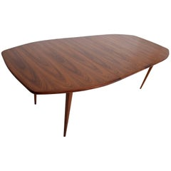 Mid-Century Modern Walnut Dining Table with Sculptural Shape
