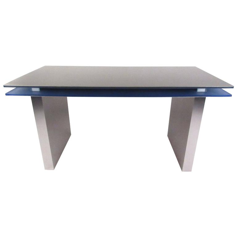 Modern floating top aluminum and lucite desk for sale at for Floating desk for sale