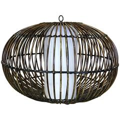 Rattan chandeliers and pendants 13 for sale at 1stdibs rattan chandelier circa 1968 aloadofball Images
