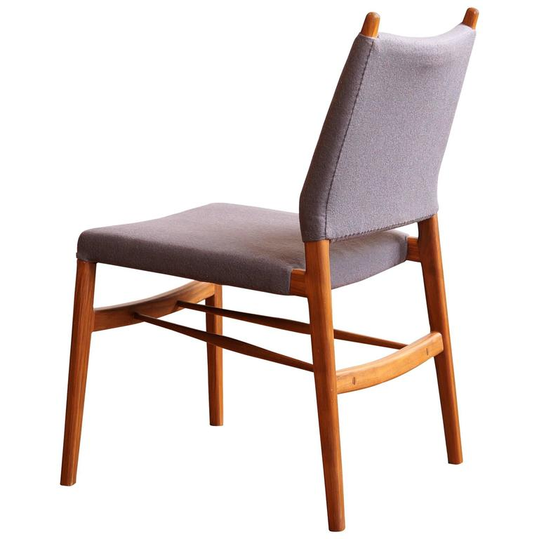 C05. Modern Upholstered Dining Chair in Walnut and Wool, by Jason Lewis