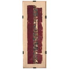 Framed Pre-Columbian Textile Fragment From Wari Culture