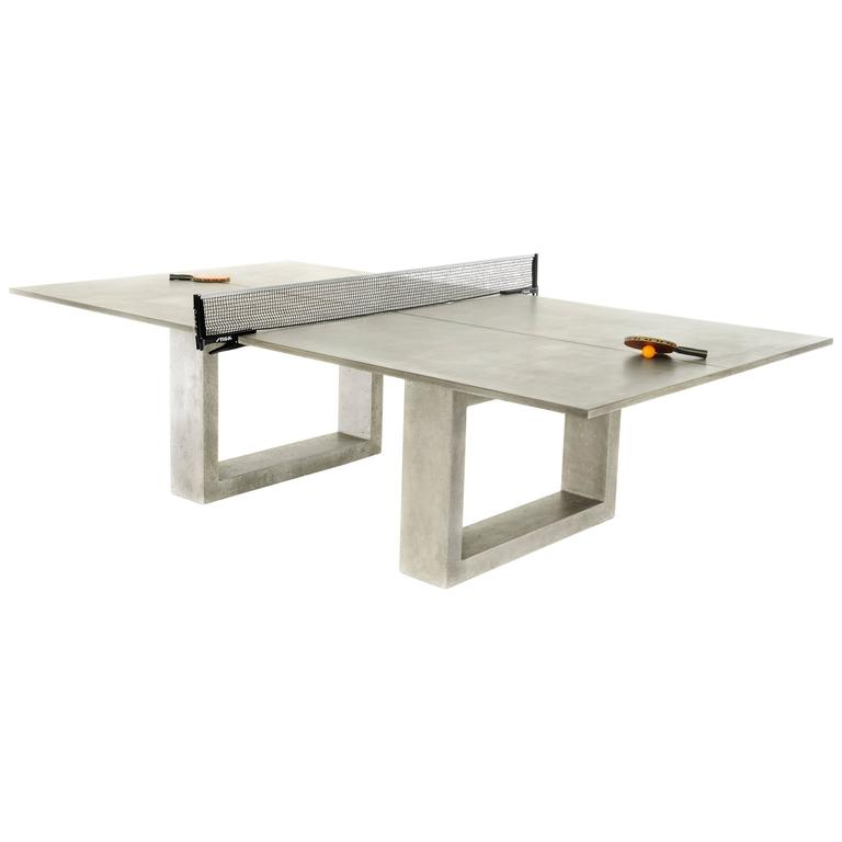 James de Wulf Customizable Concrete Ping Pong Table For Sale