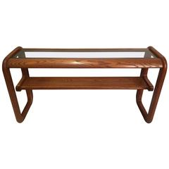 Lou Hodges Cantilevered Console Table in Oak