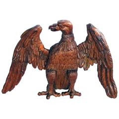 Exceptional American 19th Century Folk Art Wood Carving of an American Eagle