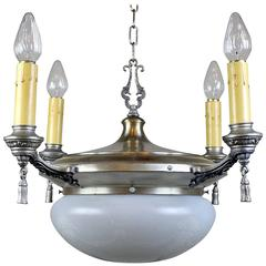 Satin Silver Plated Dining Room Fixture
