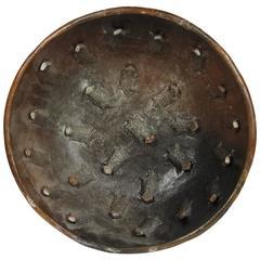 Unusual Raku Fired Earthenware Bowl with Applied Fanciful Animals