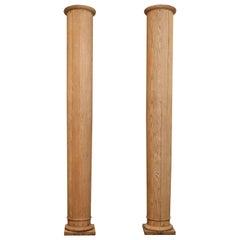 Pair of 19th Century Oak Columns
