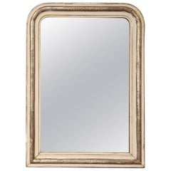 19th Century Silver and White Louis Philippe Mirror