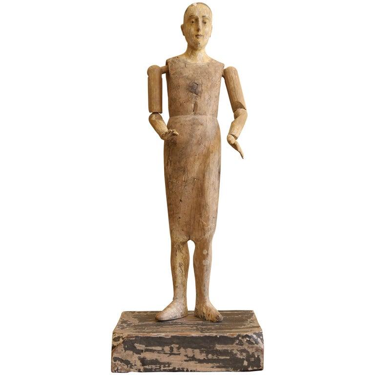 19th Century Religious Santo Figure For Sale