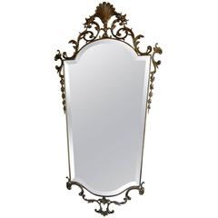 Mid-Century Bronze Mirror in the Neoclassical Style
