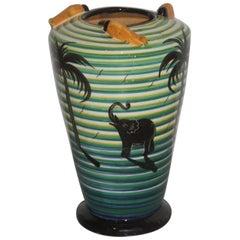 Vase Art Deco' 1930 Corradini Futuristic Design