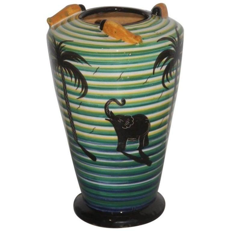 Vase Art Deco' 1930 Corradini Futuristic Design For Sale