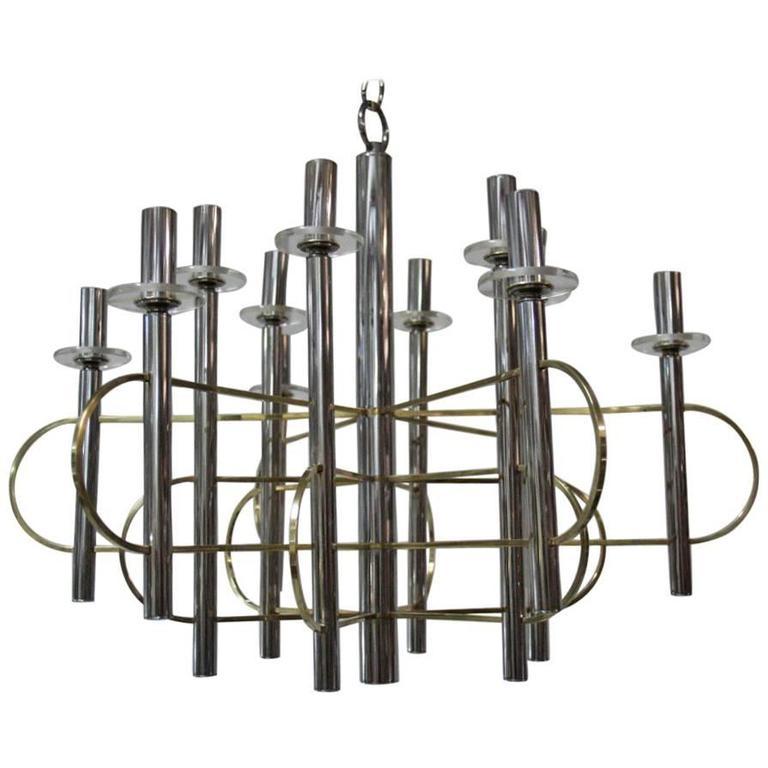 Modernist Sculpture Chandelier Sciolari, Design 1970